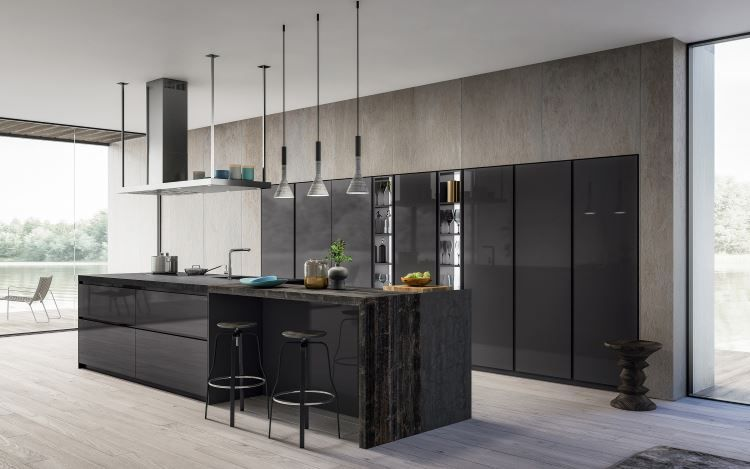 Pole habitat design cuisines salle de bains dressing Cuisine design italienne